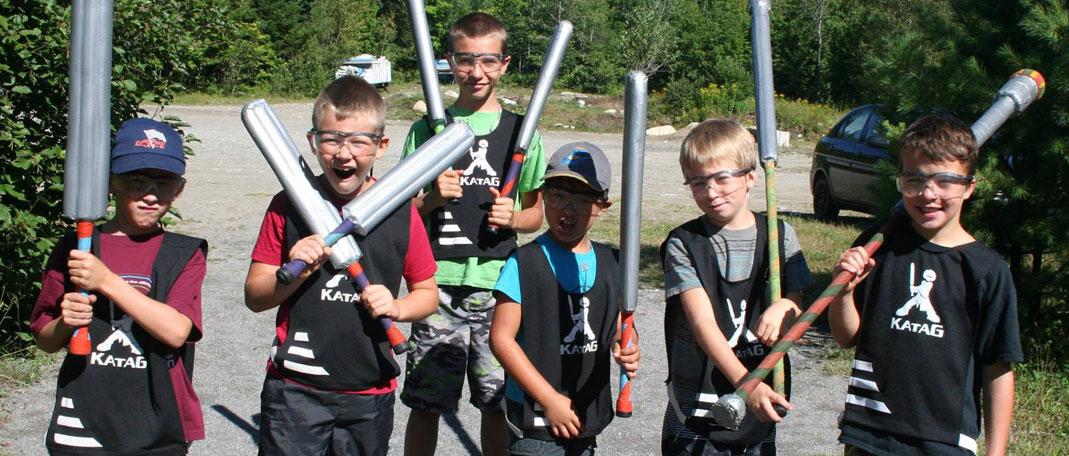 Camp Katag - Camp de jeu d'épées-mousse - Partenaire de Camp Boute-en-train